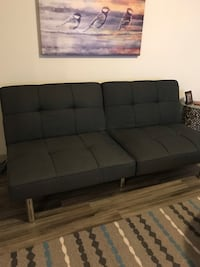 black leather tufted sectional sofa Los Angeles, 90015
