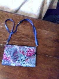blue and pink floral crossbody bag Oneida, 13421