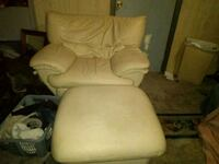 White leather chair and stool ready to go Burbank, 60459