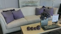 gray fabric sofa set with throw pillows TORONTO