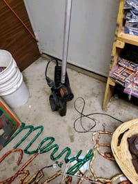Electric  chainsaw  on a pole