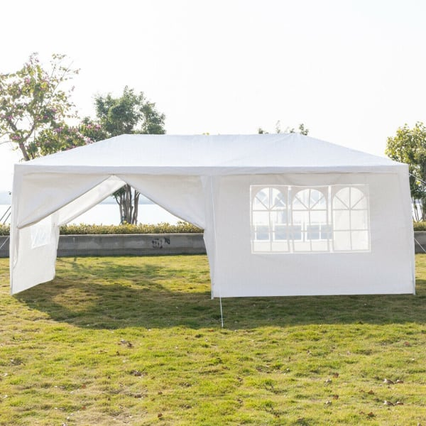 Never Used 10' x 20' Canopy 6 Walls White Gazebo Party Tent Wedding Outdoor Pavilion