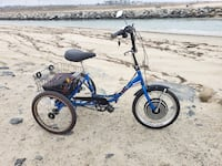 Worksman USA ELECTRIC TRIKE bike. NEW BATTERIES. Compact Adult Folding