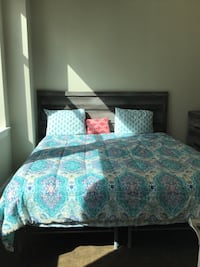 King size bed and dresser