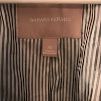 14 made in Philippines brown, white and black pinstripe Banana Republic Overland Park, 66214