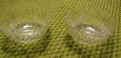 "Glass bowls-set of 2 approx 12"" round"