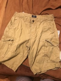 men's brown Hollister cargo shorts