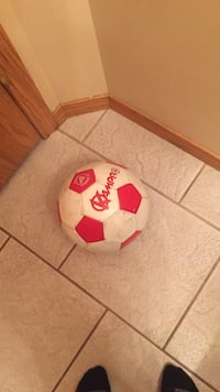 white and red soccer ball Edmonton, T5Y