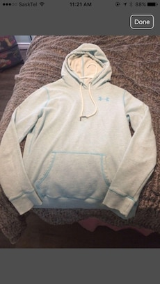 baby blue under armour hoodie