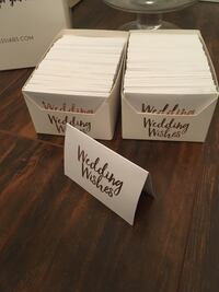 Wedding wishes jar. Used instead of a guest book Maple Ridge, V2X