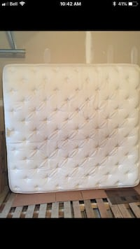 Tufted white and gray mattress KING! Edmonton, T6C 2W6