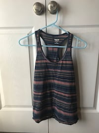 black and grey stripe tank top