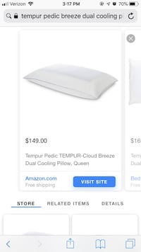 Tempur-pedic queen pillow Bakersfield, 93312