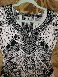 Black white mandala printed dress Essex, 21221