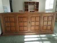 brown wooden cabinet HUNTINGTONBEACH