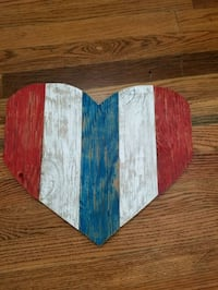 red, blue, and white wooden wall decor Price, 84501