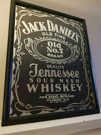 1970's Jack Daniels mirrored picture