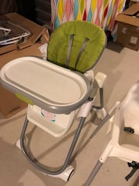 Adjustable/ convertible High chair with table Brampton, L7A 4V5