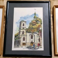 Vintage Watercolor from 1974, signed and dated Toronto, M2H