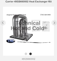 Carrier — NEW HVAC part - heat exchanger kit