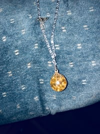 gold-colored pendant necklace Silverton, 97381