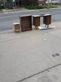 white and brown wooden cabinet Toronto, M6P 4C2