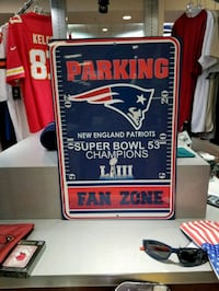 Patriots SB LIII Parking Sign