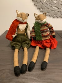 Seated Fox Christmas Decorations