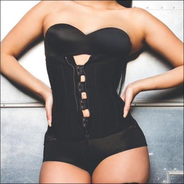 Clip and Zip Rubber Latex Waist Trainer