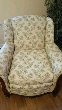 white and brown floral fabric sofa chair Youngsville, 70592