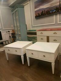 pair of refinished vintage side tables  Brampton, L6X