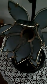 stained glass lamp green and black Caesarea, L0B 1E0