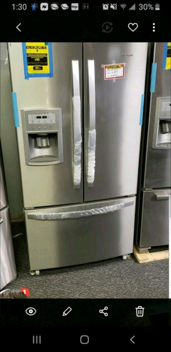 Used Stainless Steel French Door Refrigerator For Sale In St Louis
