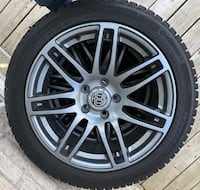Continental winter Contact SI tires on RSSW wheels, barely used Whitby, L1M 2B7