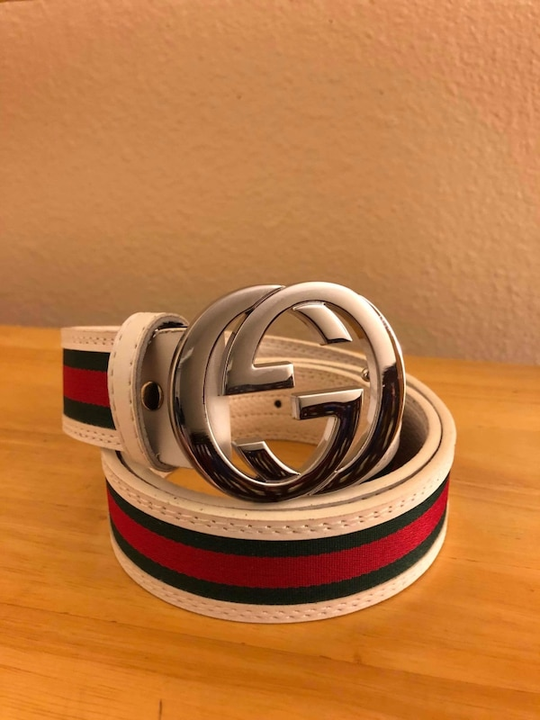 34d3c82ee93 Used silver and red Gucci belt for sale in Salinas - letgo