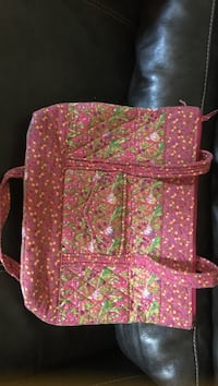 pink and white floral print backpack Eaton, 45320