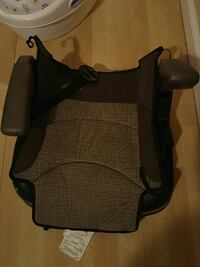 brown and gray car seat booster