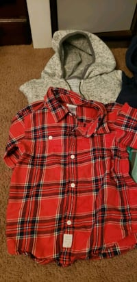 Boys 4T Flannel shirts and Zipper hoodies