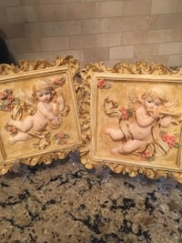 Pair of cherub wall decor Kingston, K7P
