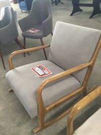 Rocking Chair gray - wood arm rest cloth Brownsville, 78520