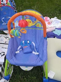 baby's blue and orange Fisher-Price animal print bouncer Dartmouth, B2X 3H8