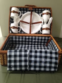 Wicker Picnic Basket plus 20 Accessory Pieces Caldwell, 07006