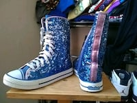 blue-and-white Nike high-top sneakers North Las Vegas, 89030