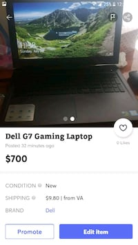 Dell G7 Gaming Laptop Leesburg, 20176