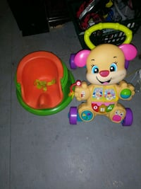 baby's pink and green activity walker Raleigh, 27610