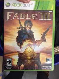 Xbox 360 Fable 3 game case Takoma Park, 20912