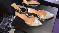 pair of gray-and-brown wedge sandals New York, 10460