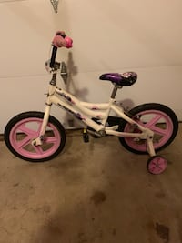 toddler's white and purple bicycle with training wheels Ashburn, 20147