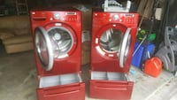 red and white front-load washing machines Bowie, 20716
