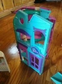 teal and pink Littlest Pet Shop dollhouse 906 mi